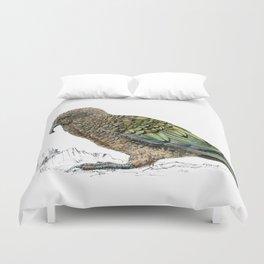 Mr Kea, New Zealand parrot Duvet Cover