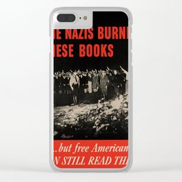 Vintage poster - Burned Books Clear iPhone Case