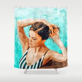 Simulacrum Shower Curtain