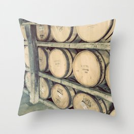 Kentucky Bourbon Barrels Color Photo Throw Pillow