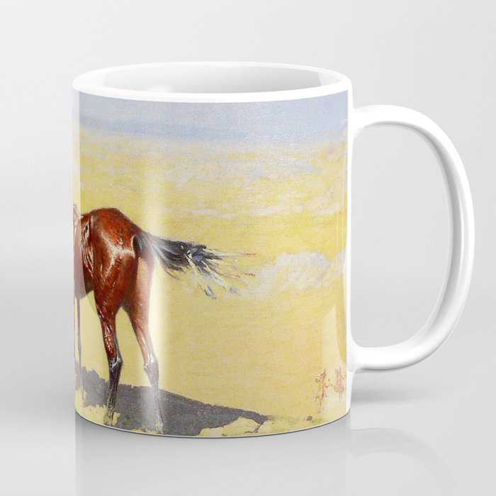 "Frederic Remington Western Art ""Hunted Down"" Coffee Mug"