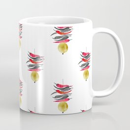 Lemon chilli charm - Black Red and Gold Coffee Mug