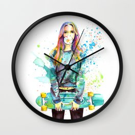 Crazy Colors Wall Clock