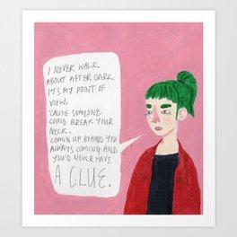 Secret Diary  Art Print