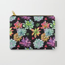 Colorful Succulents Carry-All Pouch