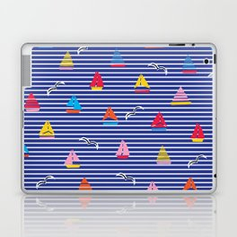 Sailboats on Stripes Laptop & iPad Skin
