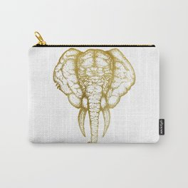 Elefante - Gold Carry-All Pouch