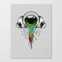 Green Jellyfish Canvas Print