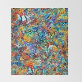Tropical Beach Art - Under The Sea - Sharon Cummings Throw Blanket