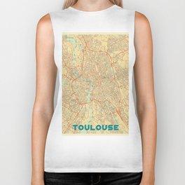 Toulouse Map Retro Biker Tank