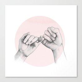 pinky swear // hand study Canvas Print
