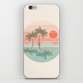 Dang - beach vibes minimal sunset sunrise ocean surfing nature palm tropical socal cali 70s style iPhone Skin