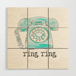 Vintage hone Ring Ring Wood Wall Art