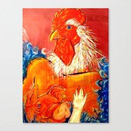 Barnyard Romantic Canvas Print