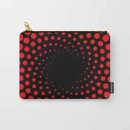 red spiral Carry-All Pouch