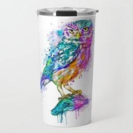 Colorful Owl Travel Mug
