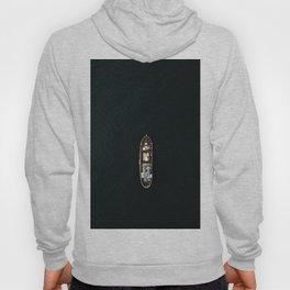Iceland Ship from Above - Ocean Photography Hoody