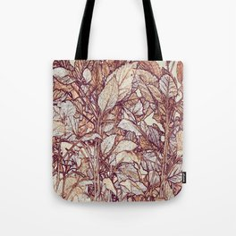 abstract camouflage leaves Tote Bag