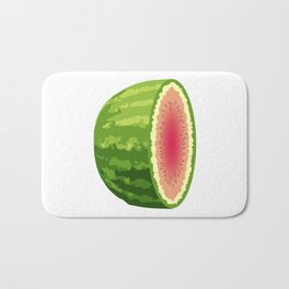 Water Melon Cut In Half Bath Mat