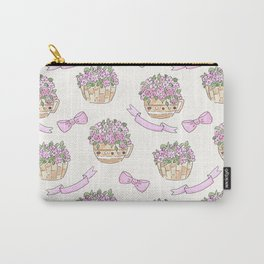 Watercolor . The flowers in the basket . Carry-All Pouch
