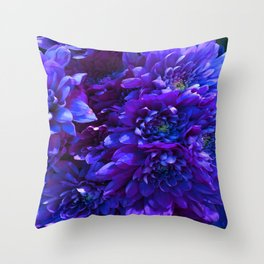 Electric Carnation Throw Pillow