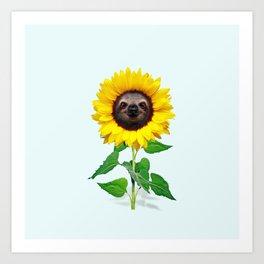 Slothflower Art Print