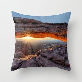 Mesa Arch Sunburst  by Lena Owens Throw Pillow