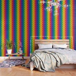 Rainbow Argyle Wallpaper