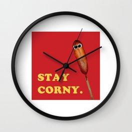 Stay Corny Wall Clock