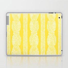 Cable Row Yellow Laptop & iPad Skin