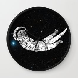André Floating Around in Otter Space Wall Clock