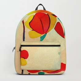 Exotic Watercolor Flower Backpack