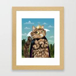 Queen Fluff Framed Art Print