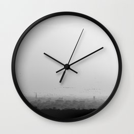 The Old City - Black and White Wall Clock