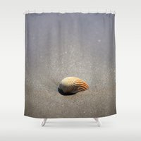 seashell Shower Curtains featuring Seashell by Maria Heyens