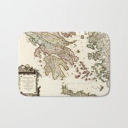 1752 Map of Greece Bath Mat