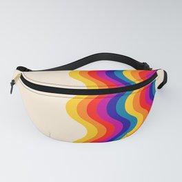 Wavy retro rainbow Fanny Pack
