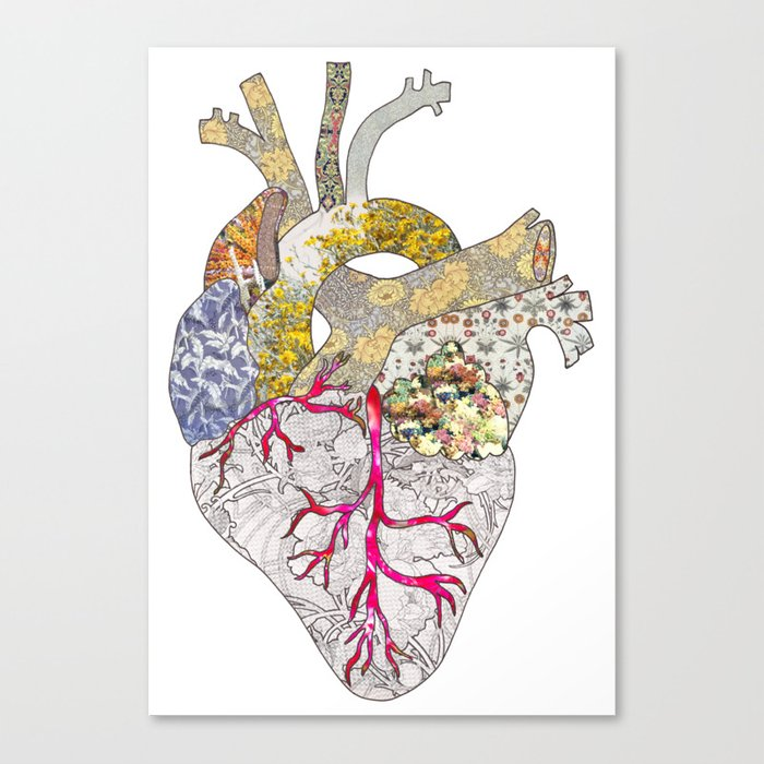 my heart is real Canvas Print by beegreen | Society6