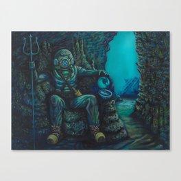 Deep Sea Throne Canvas Print