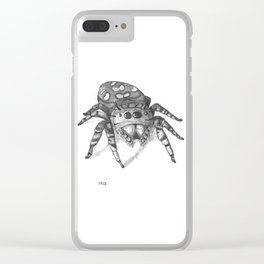 Inktober 2016: Jumping Spider Clear iPhone Case