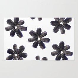 Sunflower Seeds Flower Pattern Rug