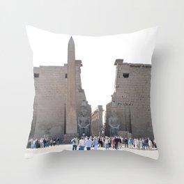 Temple of Luxor, no. 10 Throw Pillow