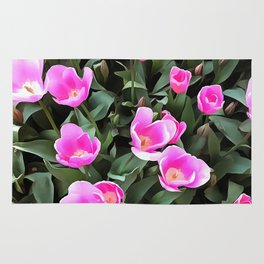 Delicate Pink Tulips Of Istanbul Rug