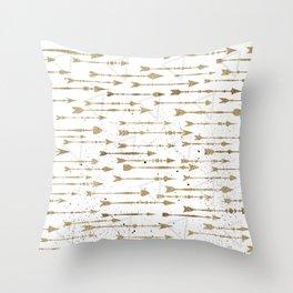 Contrary arrows Throw Pillow