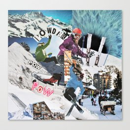 Pow pow Powder Canvas Print