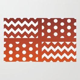 Autumn Gradient/White Chevron/Polkadot Pattern Zigzag Spot Fall Decor #ArtofGaneneK Rug