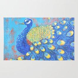 Peacock: Grace Under Fire Rug