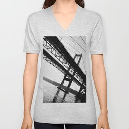a bridge over troubled waters Unisex V-Neck