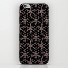 Snow flake of Ruby and Gold iPhone Skin
