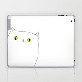 White Cat Face Laptop & iPad Skin